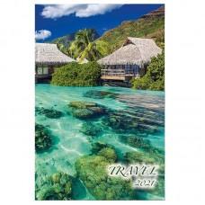 Calendar 2021 cu imagini, 31x48cm - Travel