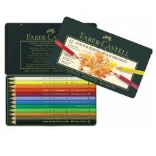 Creioane colorate Polychromos 12 culori Faber-Castell
