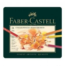 Creioane colorate Polychromos 24 culori Faber-Castell