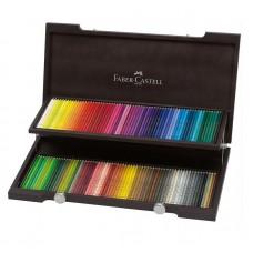 Cutie lemn creioane colorate Polichromos 120 buc., Faber-Castell