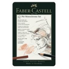 Set Pitt Monochrome Grafit 12 Buc. Faber-Castell
