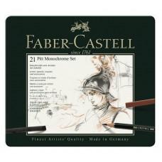Set Pitt Monochrome Grafit 21 Buc. Faber-Castell