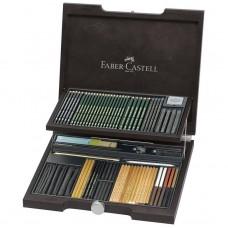 Cutie lemn Pitt Monochrome 95 buc. Faber-Castell